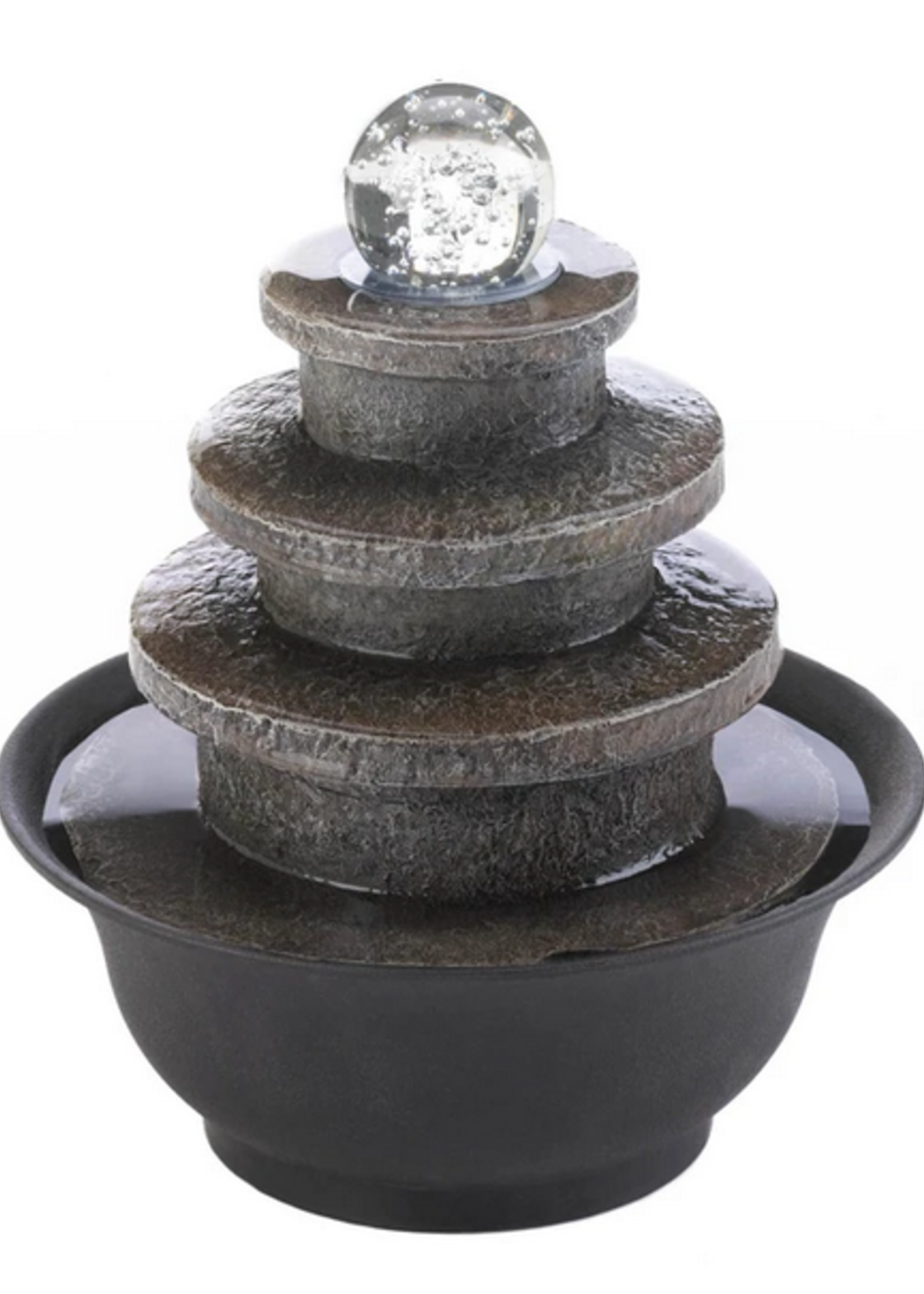 Tiered Round Tabletop Fountain
