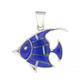 Pendant DEN & Opal Inlay Fish