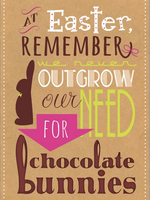 Card EASTER We Outgrow Our Need