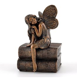 Statue Fairy Napping on Books 4.25