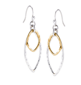 Earrings 2 Marquis SS & Gold Plated