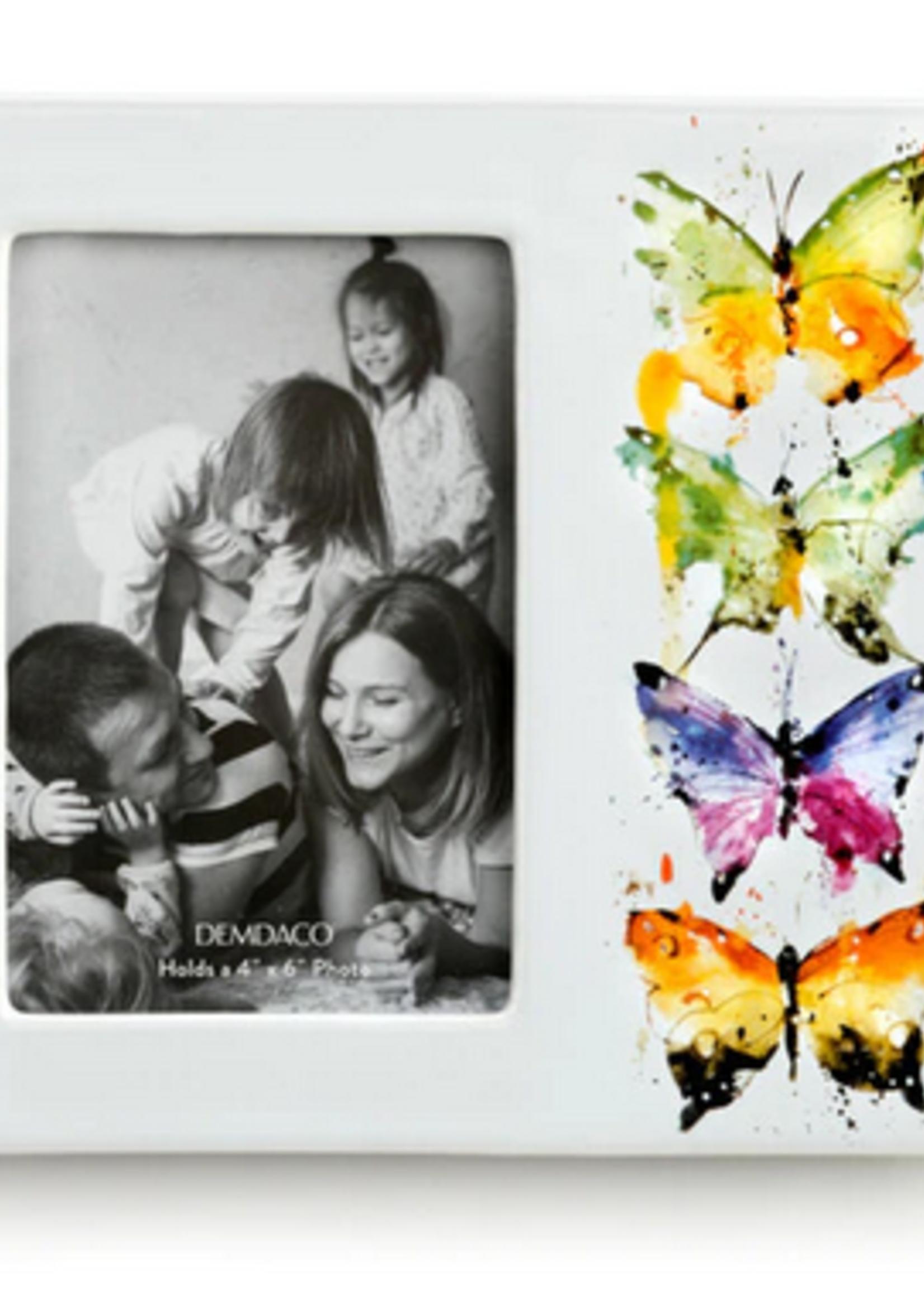 Four Butterflies Ceramic Frame