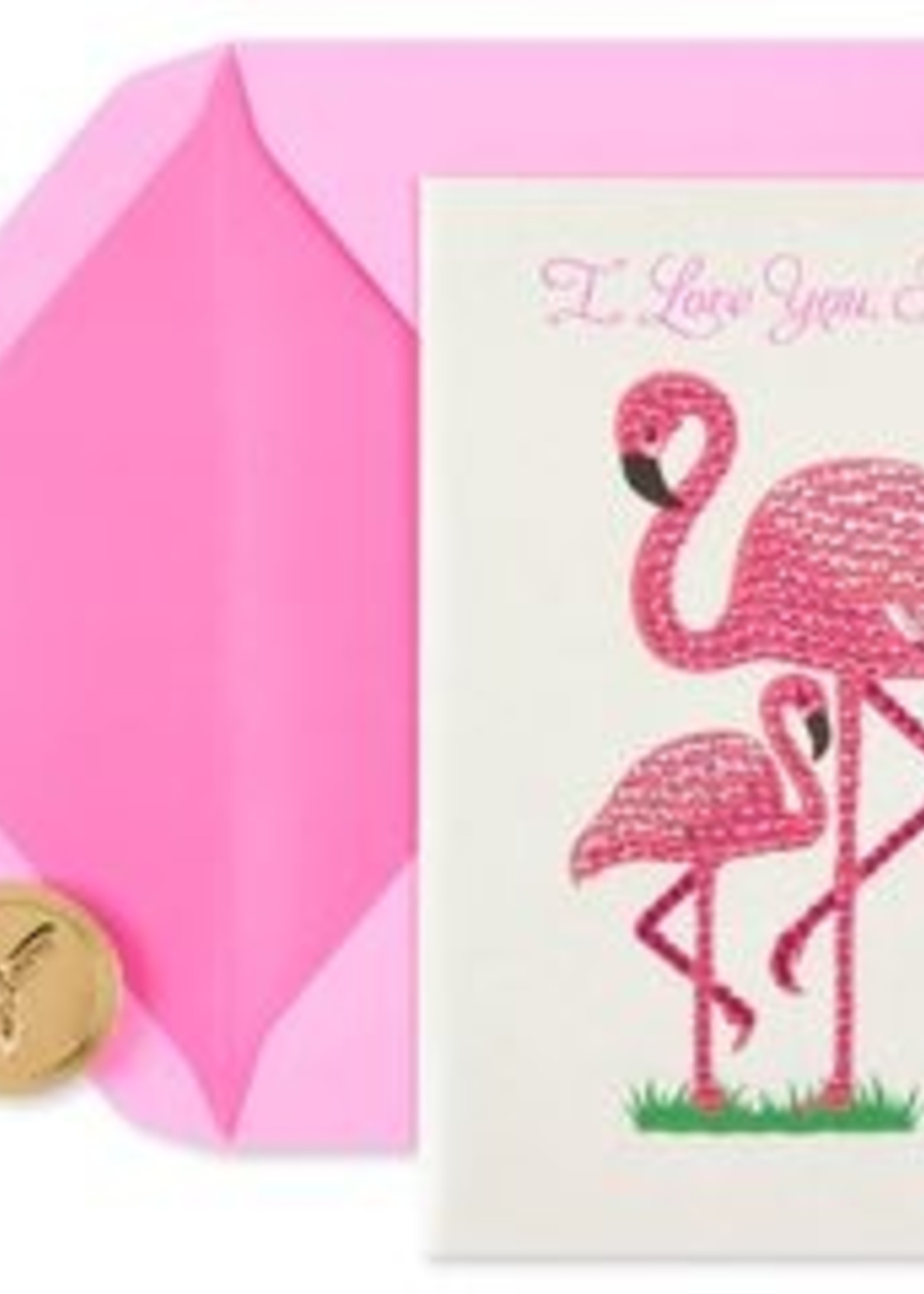 Card Flamingos Mother's Day