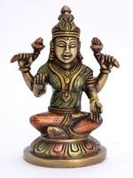Statue Brass Lakshmi Sitting