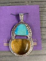 Pendant Mexican Amber & Turquoise