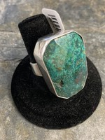Ring Adj. Chrysacolla Faceted