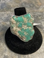 Ring Adj. African Turquoise W/Pyrite Inclusions