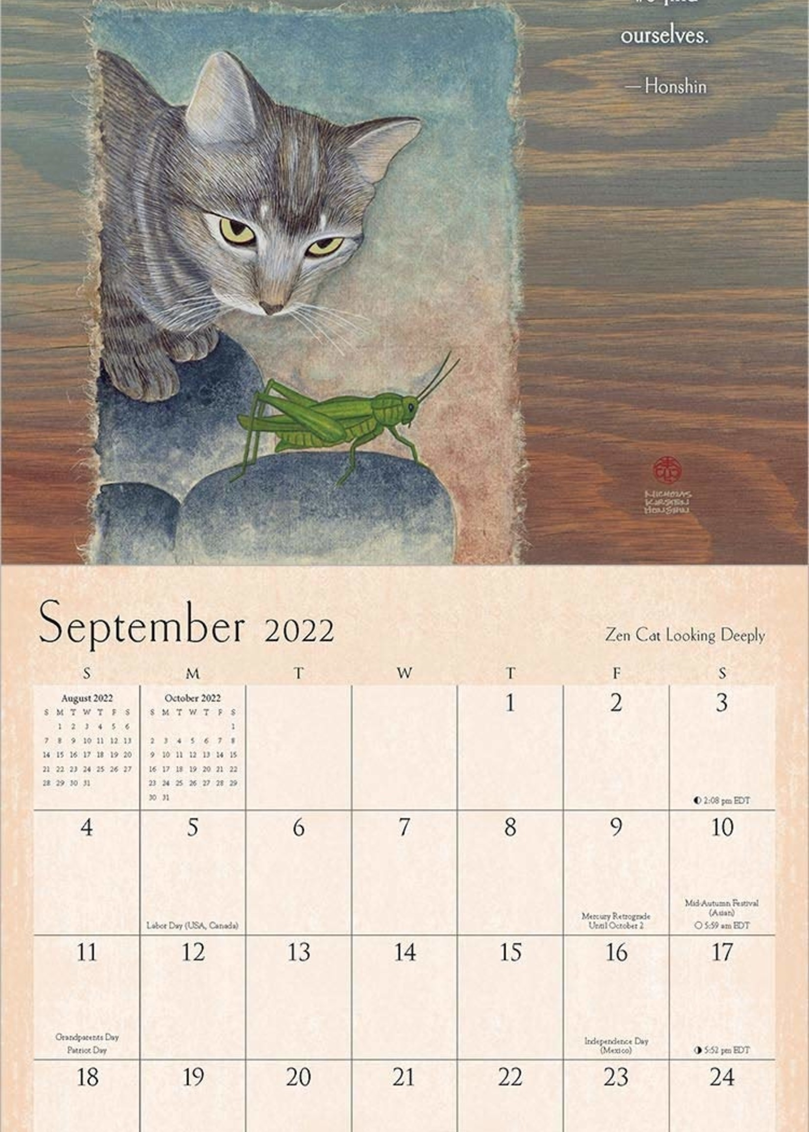 Cal 22 Zen Cat Wall