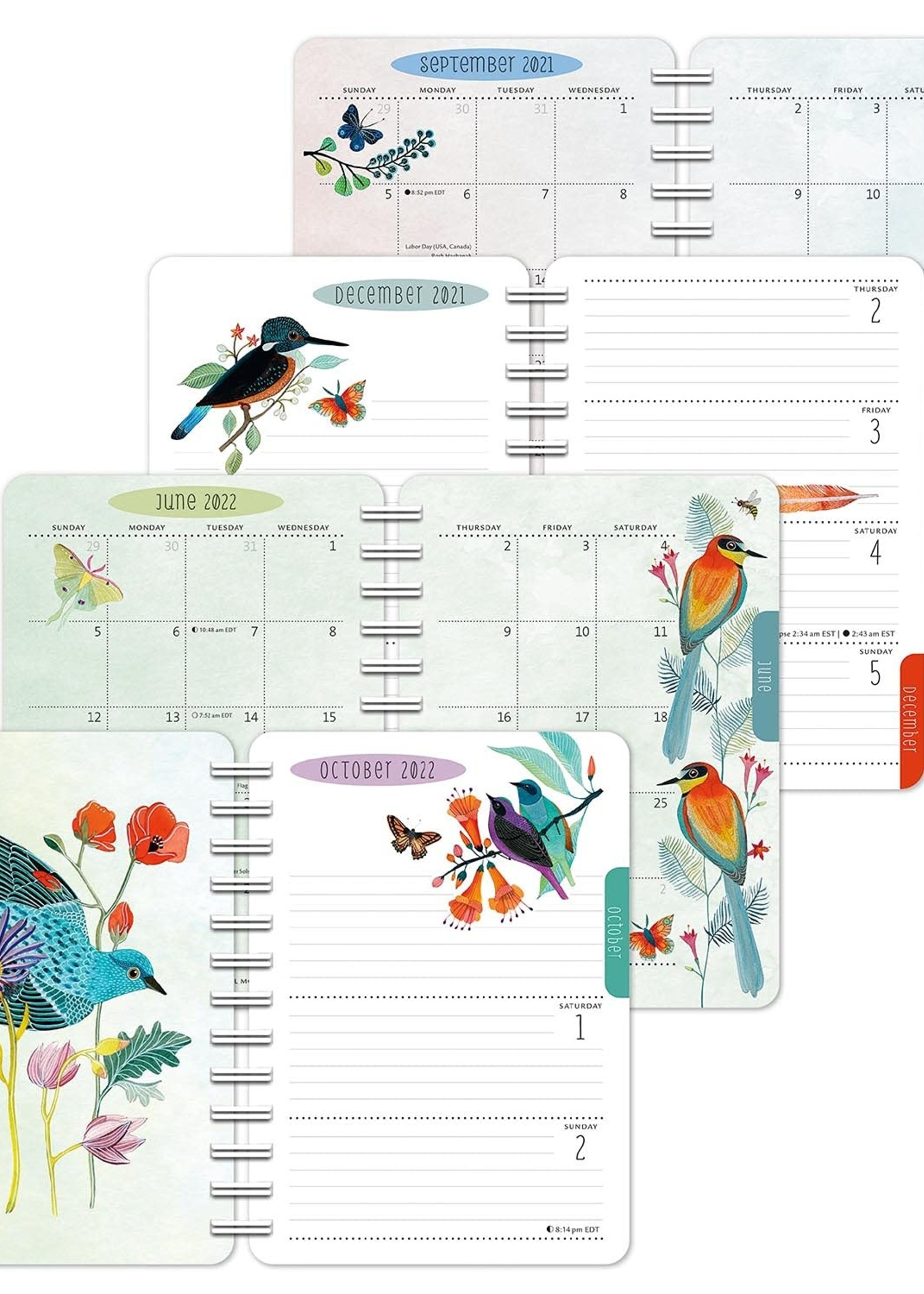 Cal 22 Weekly Planner Birds of a Feather