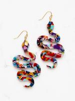 Earrings Jumbo Acrylic Snake
