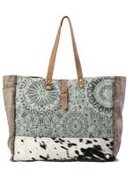 Green Floral Print Weekender Bag