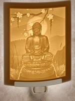 Night Light - Porcelain Garden Buddha