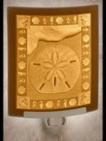 Night Light - Porcelain Garden Sand Dollar