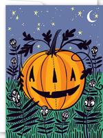 Card HALLOWEN Cats & Pumpkins