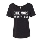BSG Bike More Worry Less T-Shirt - Women's