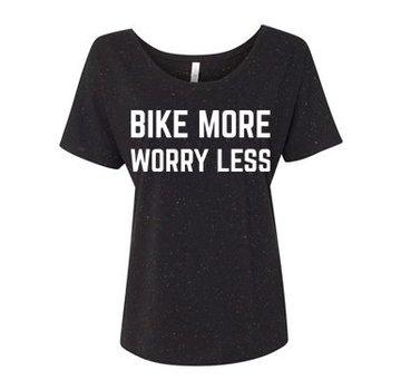 BSG Bike More Worry Less T-Shirt - Women's