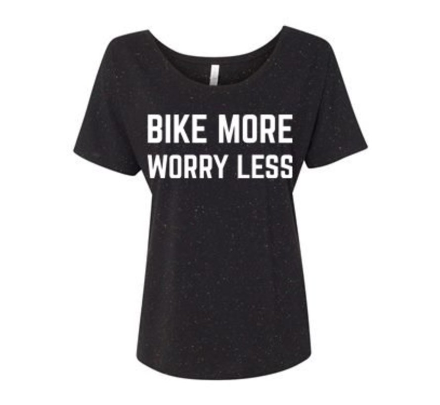 Bike More Worry Less T-Shirt - Women's
