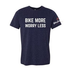 Bike More Worry Less T-Shirt - Men's