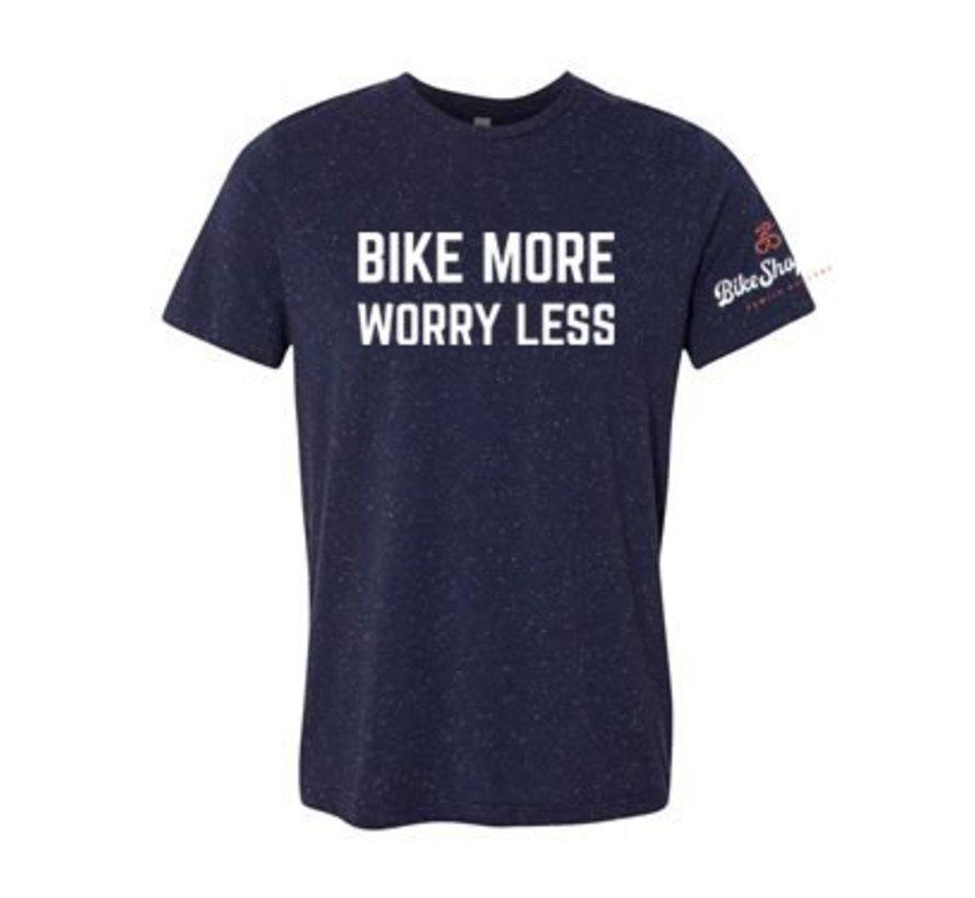 Bike More Worry Less T-Shirt - Men's