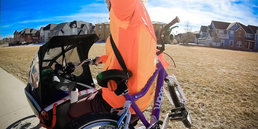 Carrying a Kid's Bike on Your Bike or Back