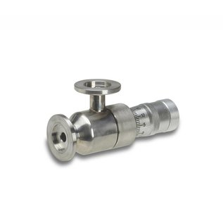 Goldleaf Scientific KF-16 High Vacuum Metering Valve, 0.8mm