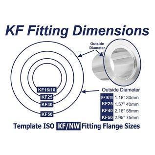 Goldleaf Scientific KF-50 to KF-40 Conical Reducer