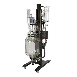 Goldleaf Scientific Electric Lift Triple Wall Glass Reactor, 50L (Explosion Proof)