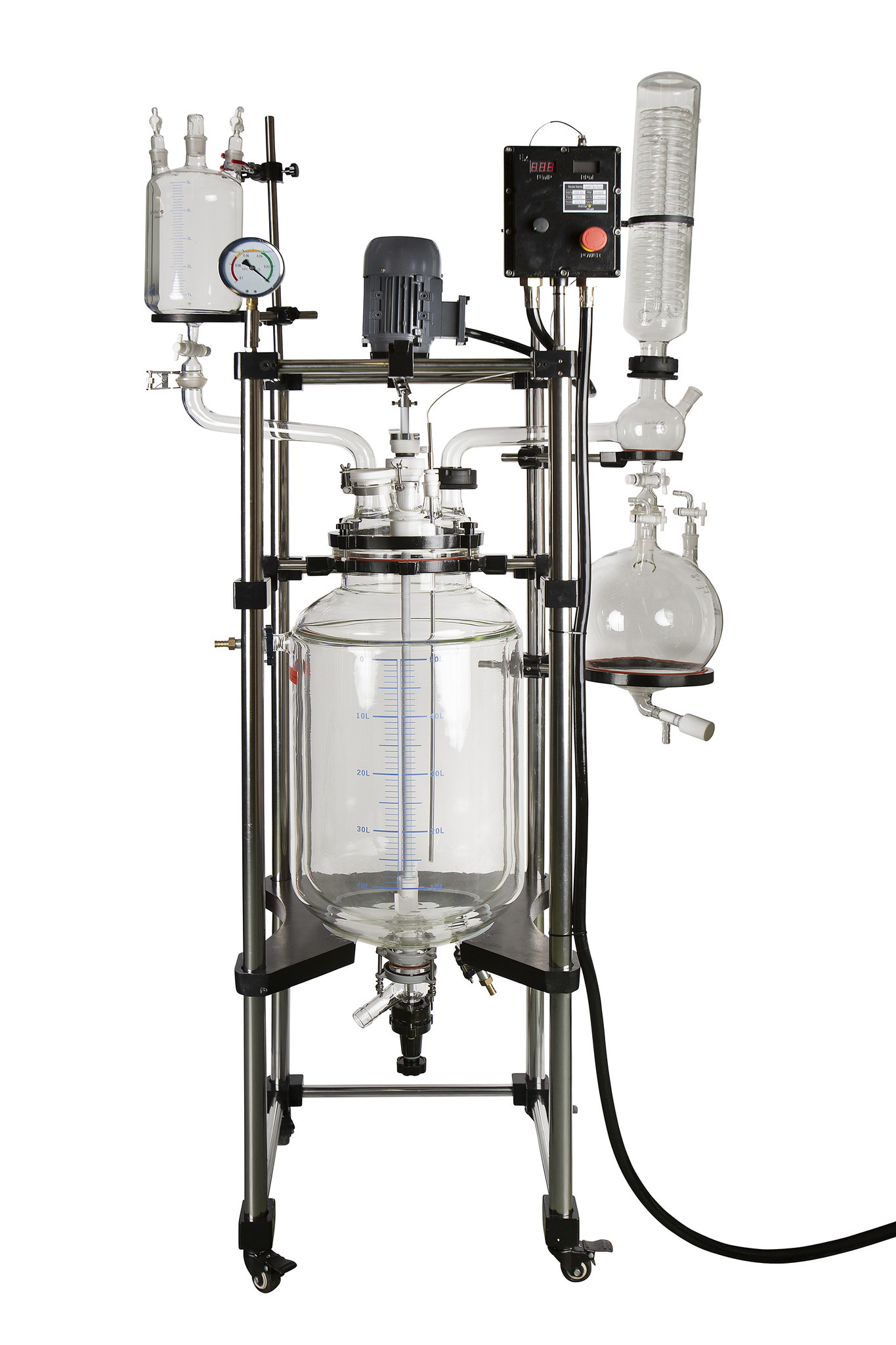Triple Wall Glass Reactor, 50L (Explosion Proof)