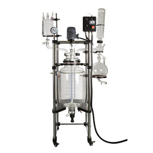 Goldleaf Scientific Double Jacketed Non-Lifting Glass Reactor (C1D1)