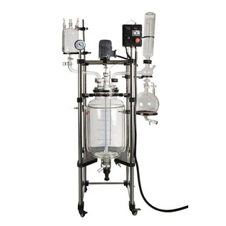 Goldleaf Scientific Double Jacketed Glass Reactor 100L, C1D2