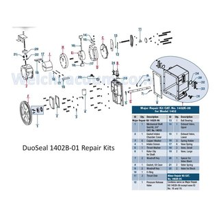 Welch Welch Vacuum 1402K-06 Major Repair Kit for Use with DuoSeal 1402 and 1405