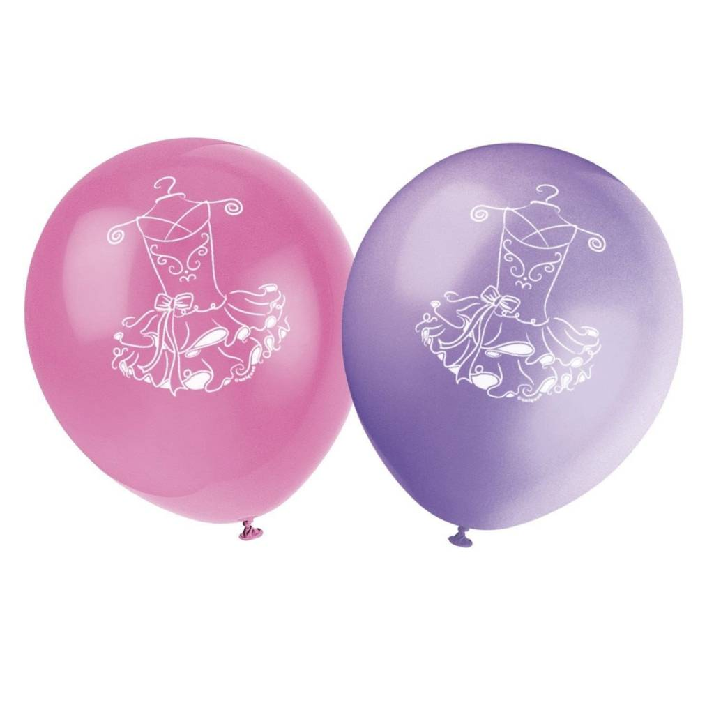 "12"" Balloons ''Unique Party'' - Ballet 49495, Pack of 8"