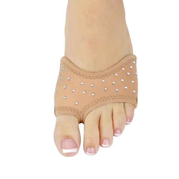 """DanzNmotion Bout de pied """"Foot Thong"""" Danshuz 6421, En néoprène couleur: Tan, Avec Strass """"Rhinestones"""""""