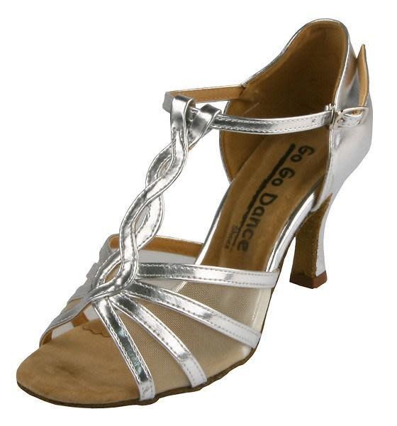 "Gogodance Ballroom Dance Shoes GO4173, 2.75 "" Heel, T-Strap"