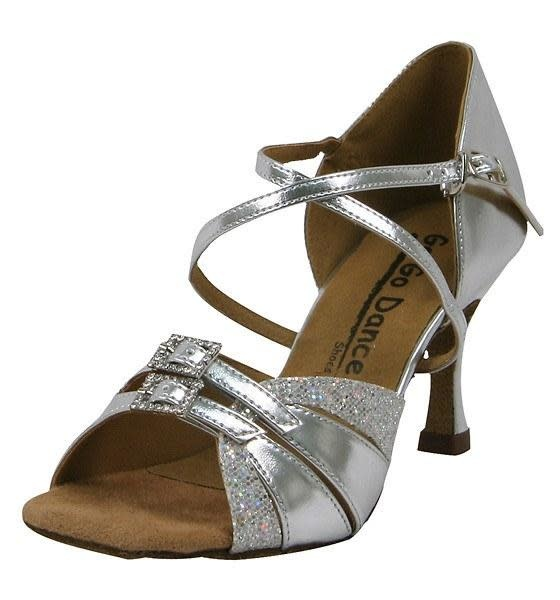 "Gogodance Ballroom Dance Shoes GO9523, 2.5"" Hell, X-Strap"
