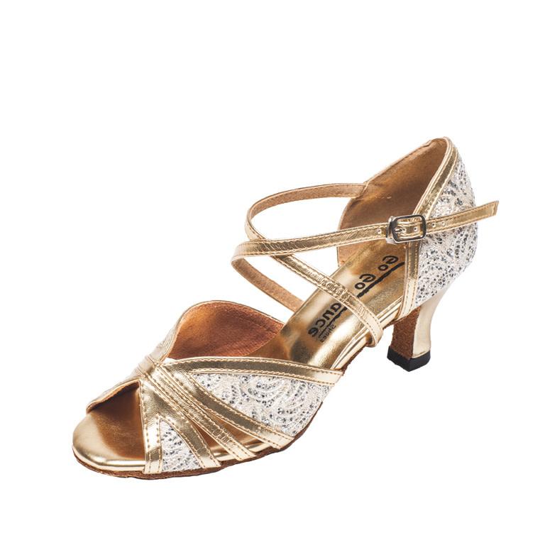 "Gogodance Ballroom Dance Shoes GO1007, 2.5"" Heel, X-Strap"