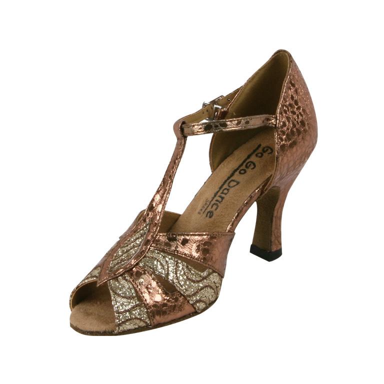 "Gogodance Ballroom Dance Shoes GO9582, 2.5"" Heel, T-Strap"