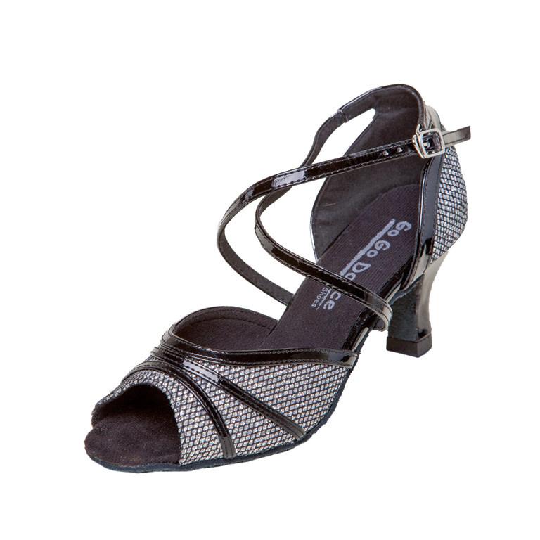 "Gogodance Ballroom Dance Shoes GO9810, 2.5"" Heel, X-Strap"