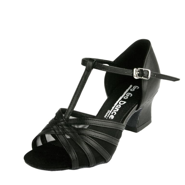 """Gogodance Ballroom Dance Shoes GO7110, 1.8 """" Cuban Heel, T-Strap"""