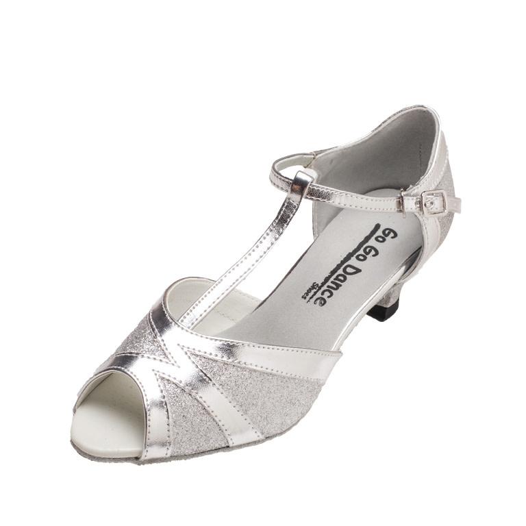 "Gogodance Ballroom Dance Shoes GO7304, 1.3 "" Heel, T-Strap"