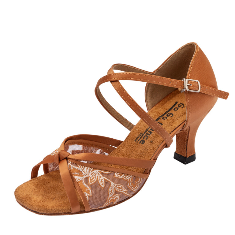 Gogodance Ballroom Dance Shoes GO1022, 2.5 Heel, X-Strap