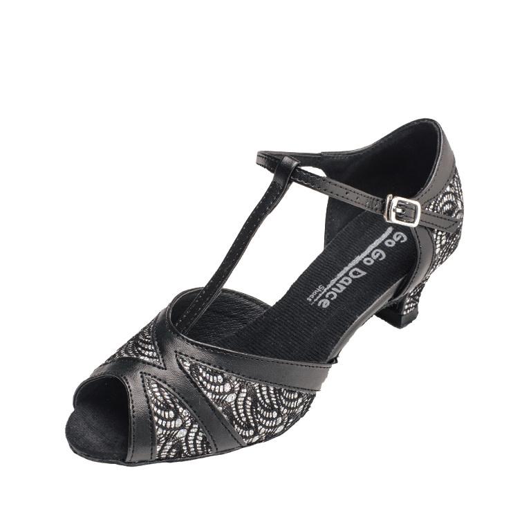 "Gogodance Ballroom Dance Shoes  GO7306, 1.3"" Heel, T-Strap"
