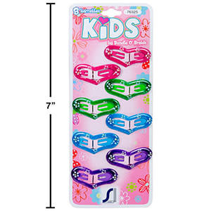 Barrettes Kids 76325, Paquet de 8