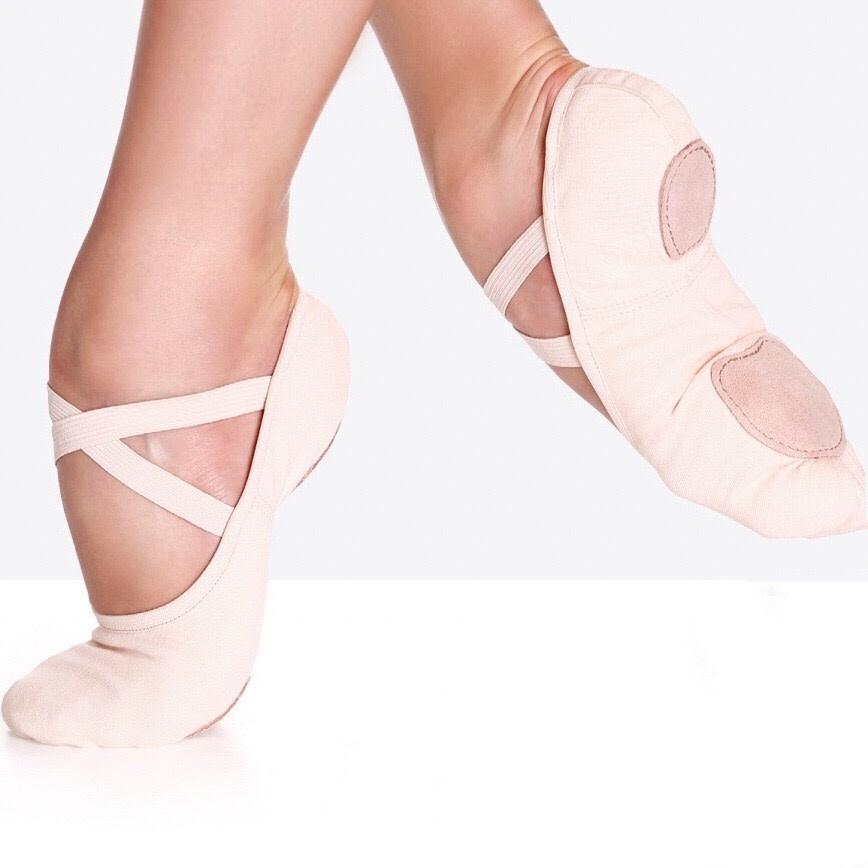 "So Danca Demi-pointe So Danca SD-16S, Bi-semelle «split sole», en canevas  ""Stretch"""