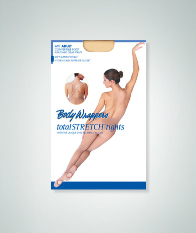 "Body Wrappers ""Body Peau"" Body Wrappers A91, Avec pieds amovibles, Bretelles transparentes incluses"