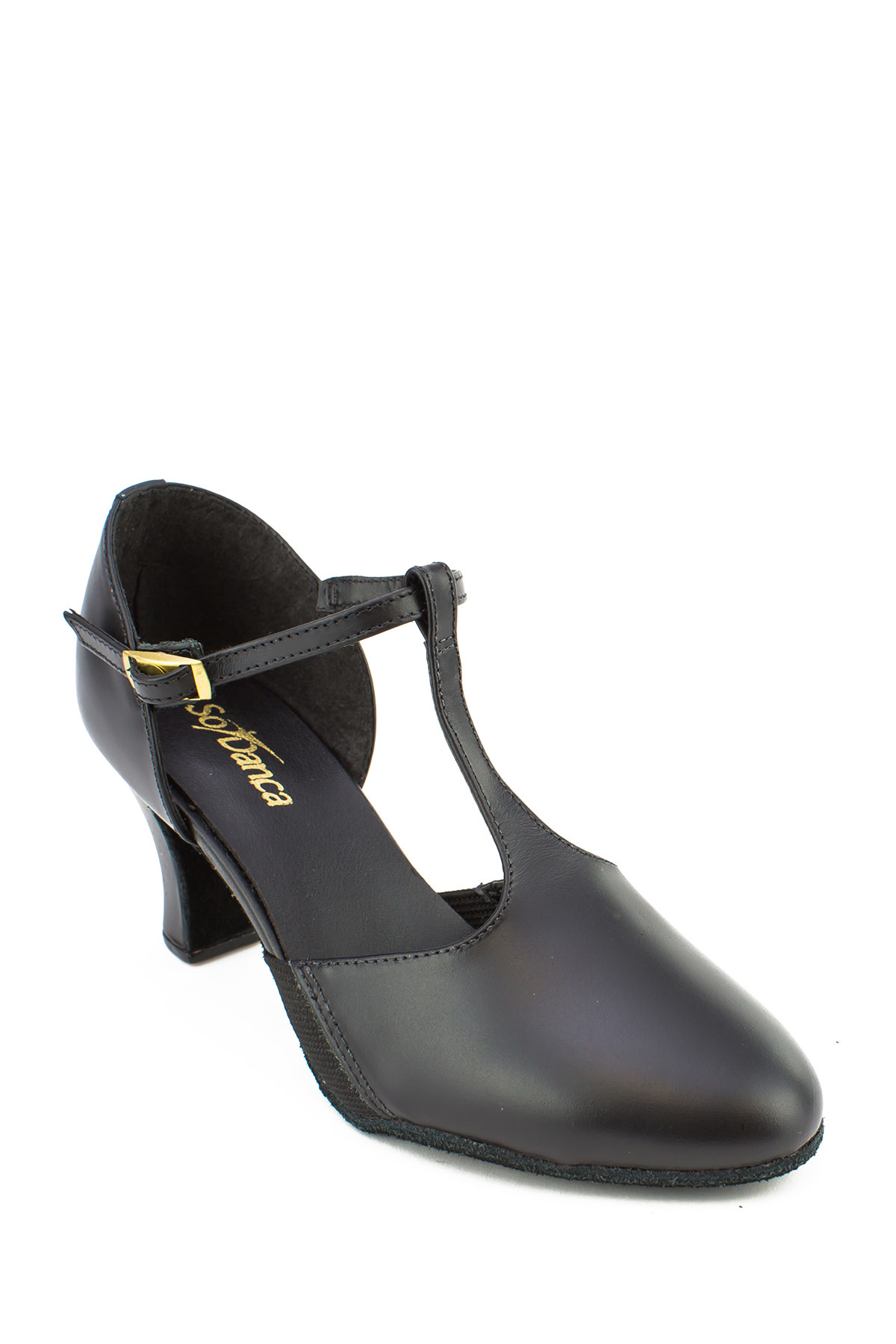 "So Danca Character Shoes So Danca CH-57, Leather Upper, Suede sole, 2.5"" Heel"