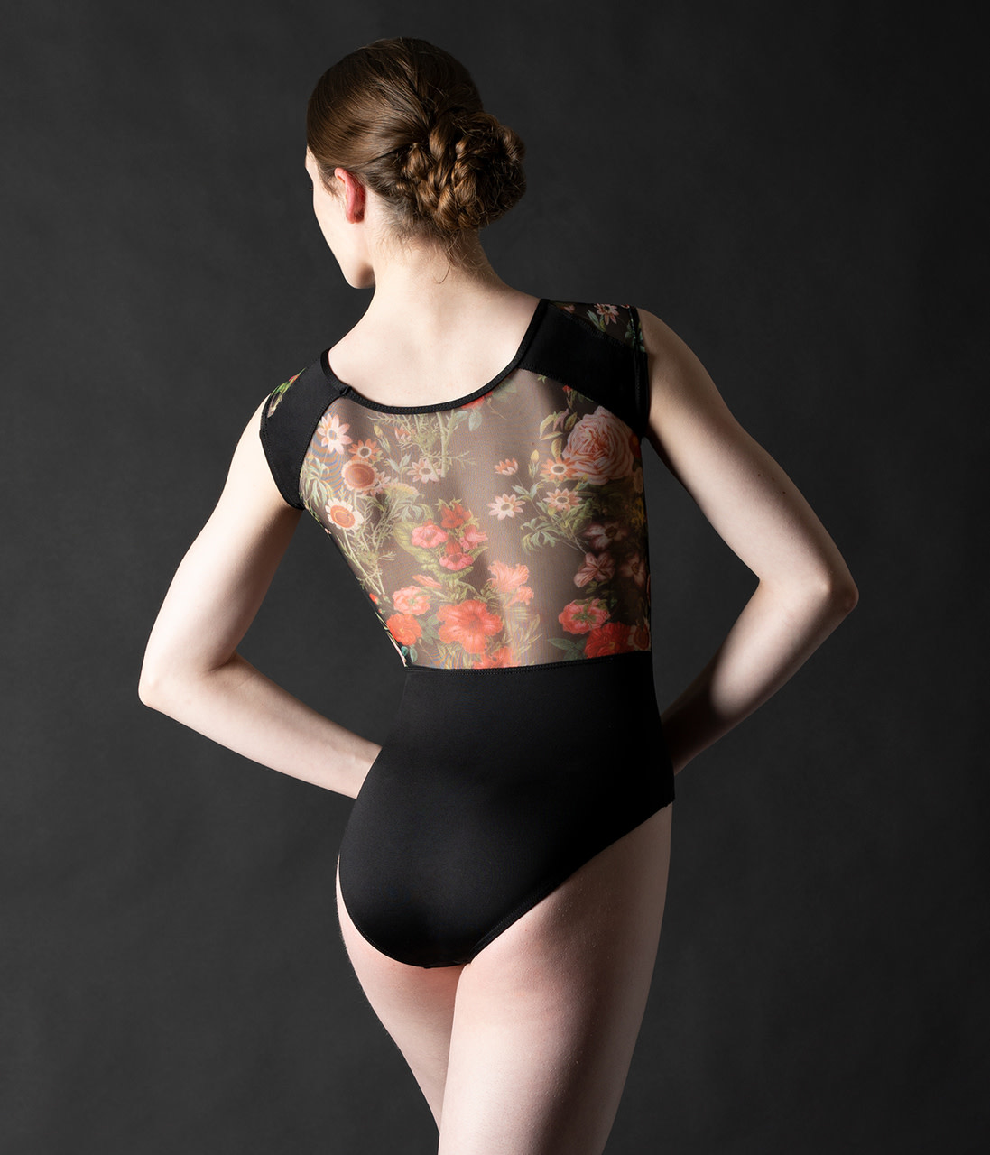 "Motionwear Maillot Motionwear 2657, Manches ""Cap Sleeves"", avec ""Printed Floral Mesh"""