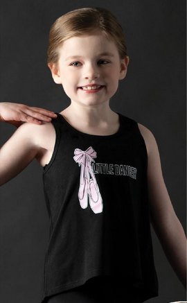 "Motionwear Camisole style ""Tank Top"" Motionwear 4116-017, imprimé: ""Little Dancer"" au devant"