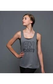 "Motionwear Camisole style ""Tank Top"" Motionwear 4184-017 Gray, imprimé: ""EN POINTE"" au devant"