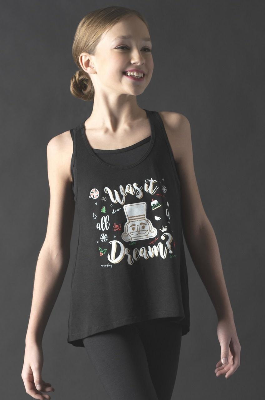 "Motionwear Camisole style ""Tank Top"" Motionwear 4930-017, imprimé: ""Nutcracker"", ""Was It All A Dream"" au devant"